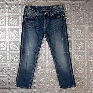 Miss Me Blue Boyfriend Capri JB5660P3  RARE Jeans